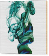 smoke XXIII Wood Print