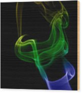 smoke XXIV Wood Print