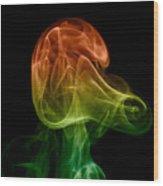 smoke XXVIII Wood Print