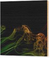 smoke XXXI Wood Print