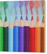Smoked Colors Wood Print