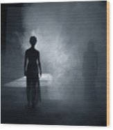 Smokey Ghosts Wood Print
