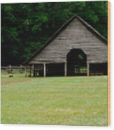Smokey Mountain Barn Wood Print by Kimberly Camacho