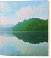 Smokey Mountain Lake Wood Print