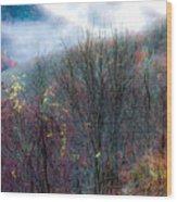 Smokey Mountain Ridge Wood Print