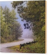 Smokey Mountain Road Wood Print by Shirley Dawson