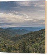 Smokey Mountain Sky Wood Print