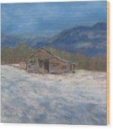 Smokey Mountain Winter Wood Print