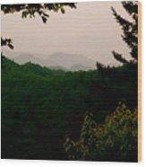 Smokey Mountains At New Found Gap Wood Print by Kimberly Camacho