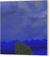Smokey Mountains Landscape Wood Print