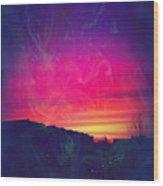 Smokey Purple Sunrise Wood Print