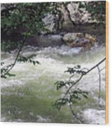 Smokey River Run Wood Print