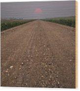 Smokey Road To Nowhere Wood Print