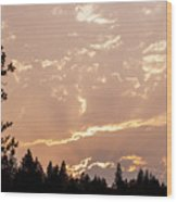 Smokey Skies Sunset Wood Print