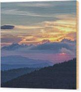 Smokies Centennial Sunset Wood Print