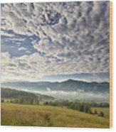 Smokies Cloudscape Wood Print by Andrew Soundarajan