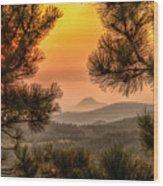 Smoky Black Hills Sunrise Wood Print