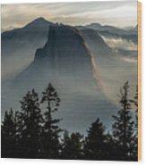 Smoky Dawn At Yosemite Wood Print