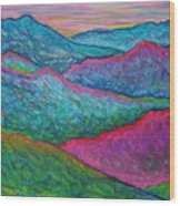Smoky Mountain Abstract Wood Print