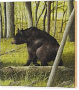 Smoky Mountain Bear Wood Print