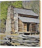 Smoky Mountain High Wood Print