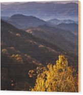 Smoky Mountain Hillsides At Autumn Wood Print