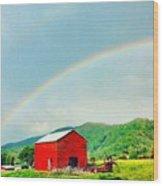 Smoky Mountain Rainbow  Wood Print