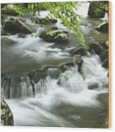 Smoky Mountain Rapids Wood Print by Andrew Soundarajan