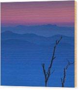 Smoky Mountain Sunset Wood Print by Andrew Soundarajan