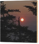 Smoky Mountain Sunset Wood Print