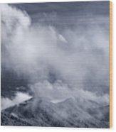 Smoky Mountain Vista In B And W Wood Print