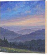 Smoky Mountain Wildflowers Wood Print