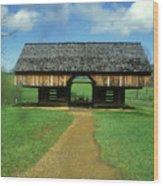 Smoky Mountains Cantilever Barn Wood Print