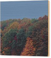Smoky Mountains In Autumn Wood Print by DigiArt Diaries by Vicky B Fuller