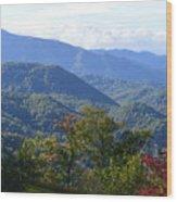 Smokey Mountains Wood Print