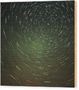 Smoky Starry Skies Wood Print