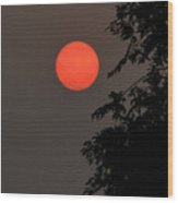 Smoky Sunset Wood Print