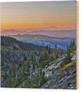 Smoky Twilight Wood Print