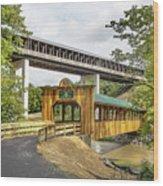 Smolen-gulf Bridge And Riverview Walk Bridge Wood Print