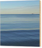Smooth Blue Water On The Lynn Waterfront Wood Print