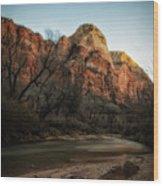 Smooth Desert River Wood Print