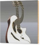 Smooth Guitar Wood Print