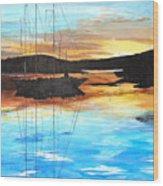 Smooth Sailing 1 Wood Print