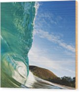 Smooth Wave - Makena Wood Print
