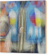 Smudge 247 Wood Print
