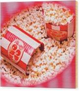 Snack Bar Pop Corn Wood Print