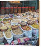 Snack Seller Wood Print