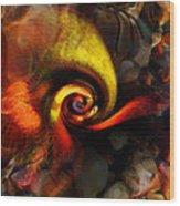 Snail 2 Wood Print by Terril Heilman