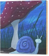 Snail Elliot Wood Print