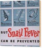 Snail Fever Wood Print